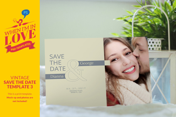 Vintage Save The Date Template 3