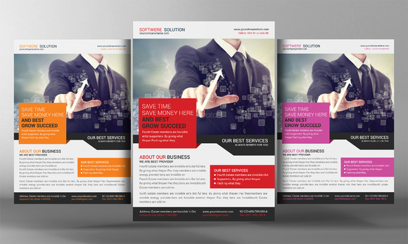 Software Solution Flyer Template