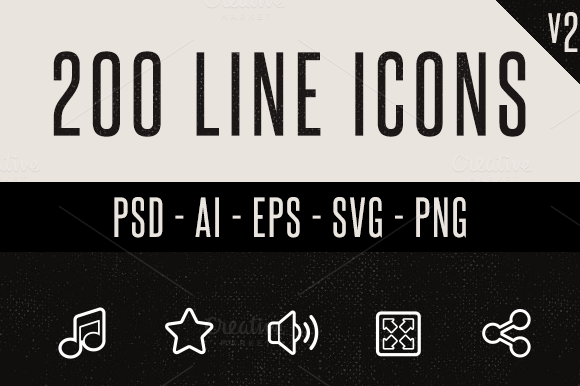 200 Line Icons