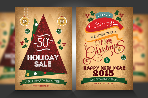 New Year Christmas Flyers