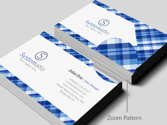 Simple Pattern Business Card
