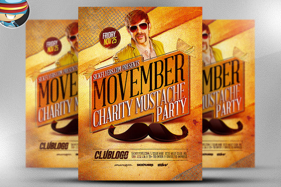 Movember Charity Party Template