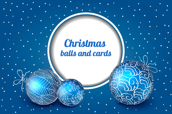 Christmas Balls And Cards