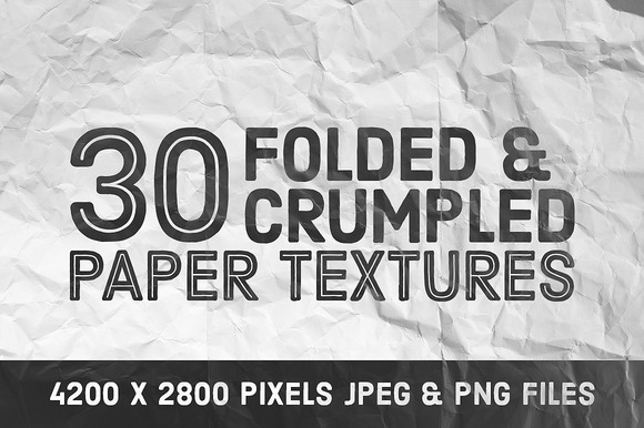 30 Folded Crumpled Paper Textures
