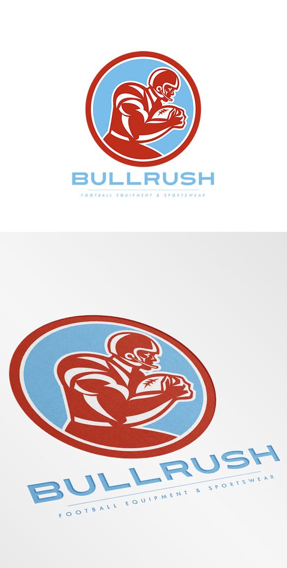 Bullrush Football Equipment Logo