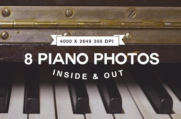 Ivory Piano Keys Inside Upright