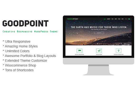 GoodPoint Creative WordPress Theme