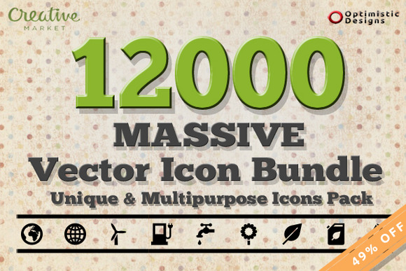 12000 Massive Vector Icons Bundle #1