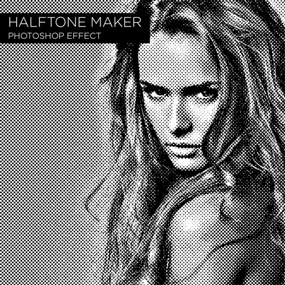 Halftone Maker Photoshop Effect