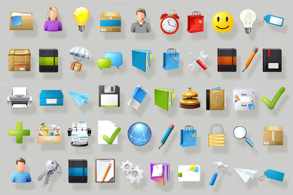 Set Of Detailed Icons