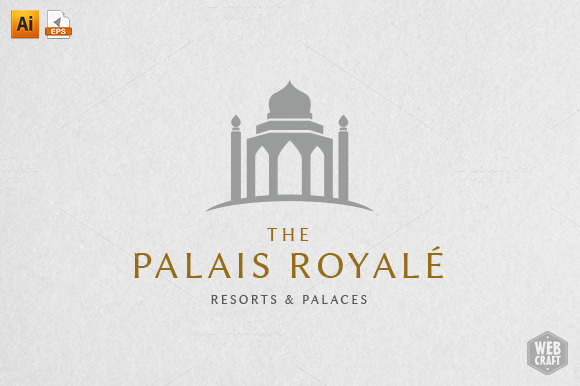 The Palais Royale Logo Template