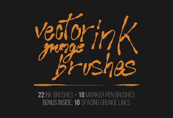 Vector Ink Grunge Brushes