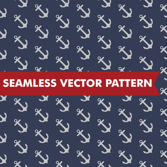 Nautical Anchors Seamless Vector