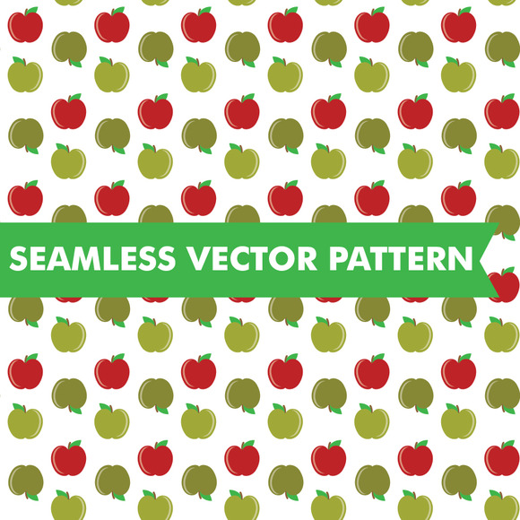 Seamless Vector Pattern Apples