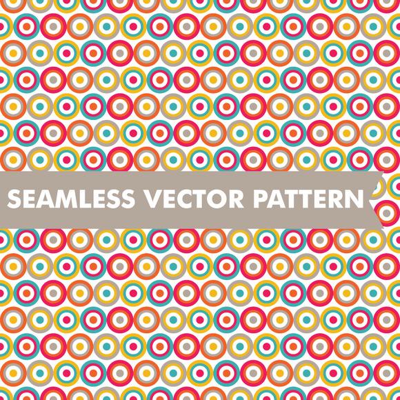 Seamless Vector Bullseye Pattern