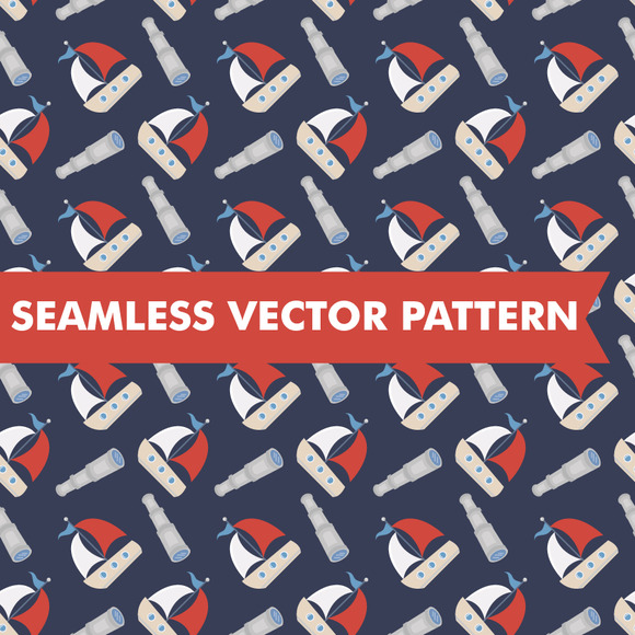 Nautical Seamless Vector Boats
