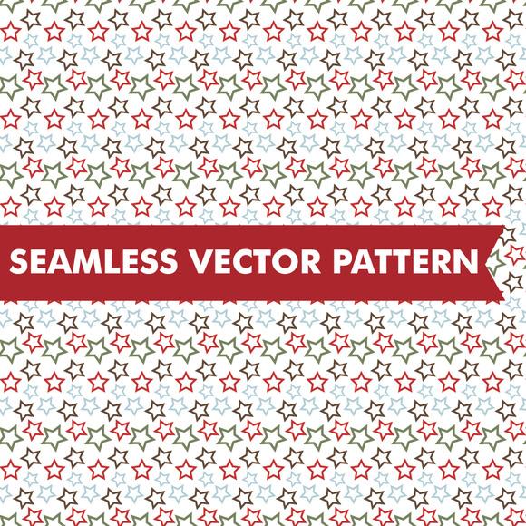 Christmas Stars Seamless Vector