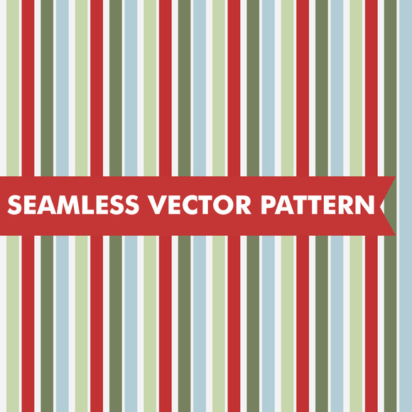 Christmas Stripes Seamless Vector