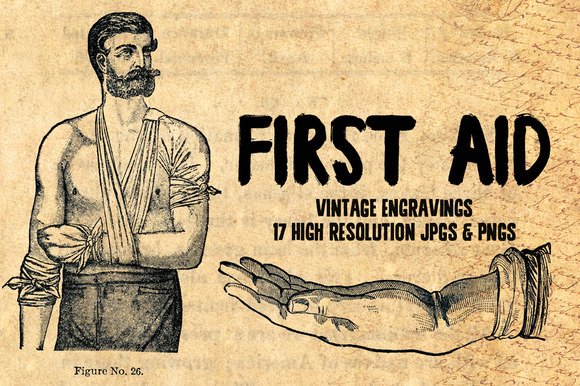 17 First Aid And Anatomy Engravings