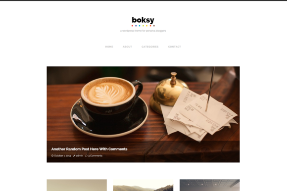 Boksy WordPress Theme For Bloggers