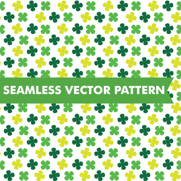 Shamrocks Seamless Vector Pattern