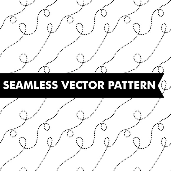 Doodle Dash Lines Seamless Vector