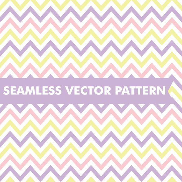 Easter Chevron Seamless Vector