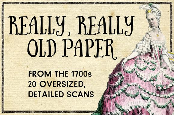 1700s Vintage Paper Pack