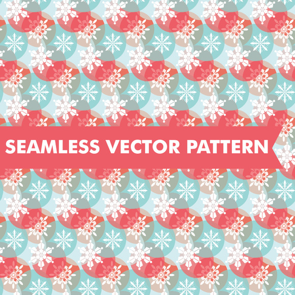 Abstract Snowflakes Seamless Vector