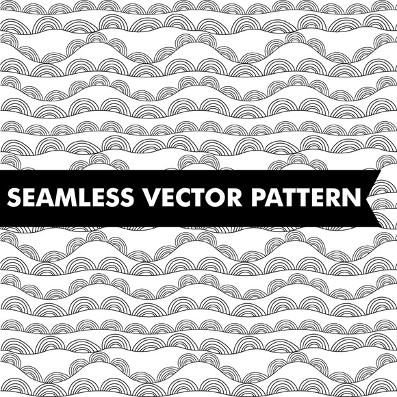Wavy Hills Abstract Seamless Vector
