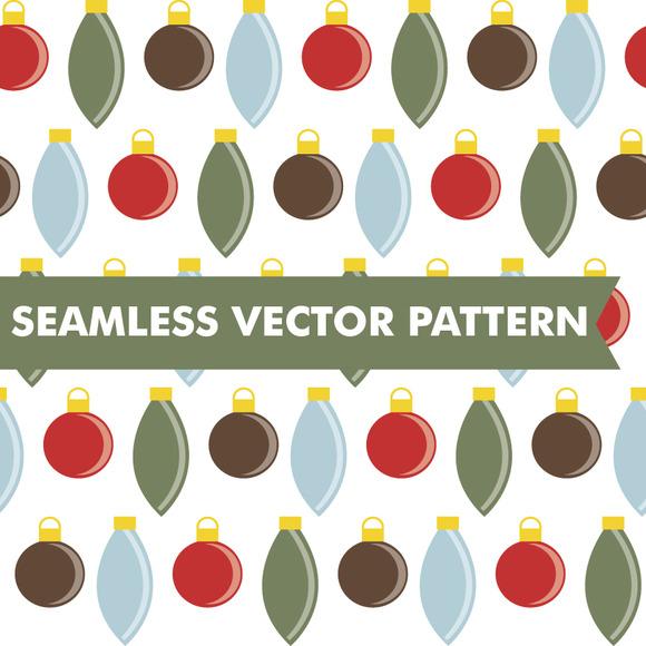 Christmas Ornaments Seamless Vector