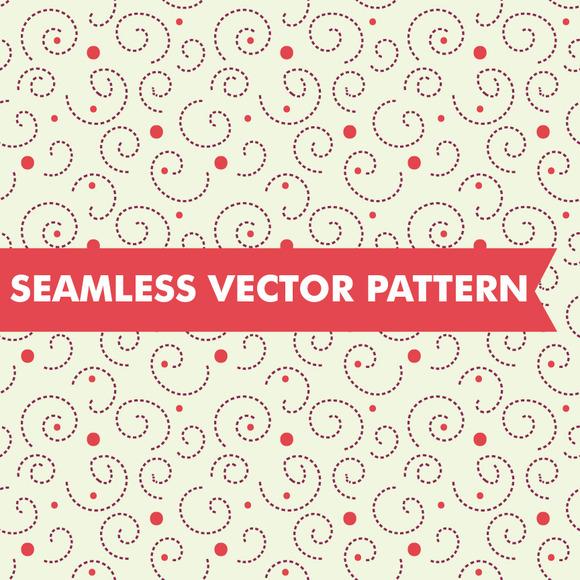 Polka Dot Swirls Seamless Vector