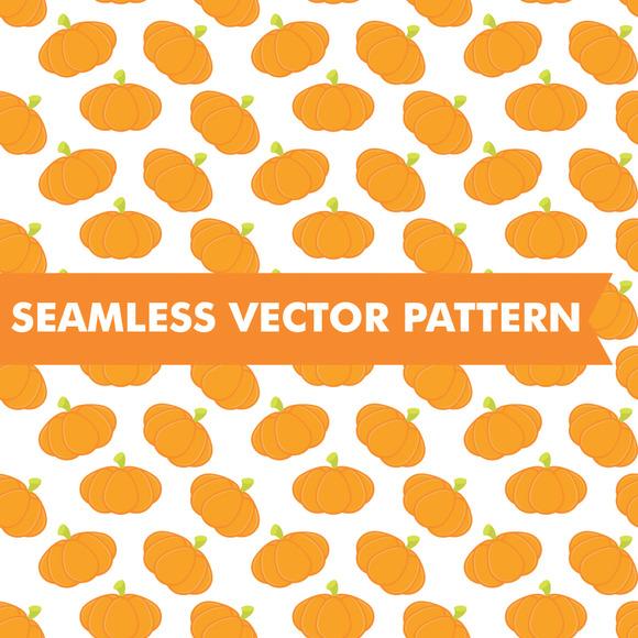 Pumpkins Halloween Seamless Vector