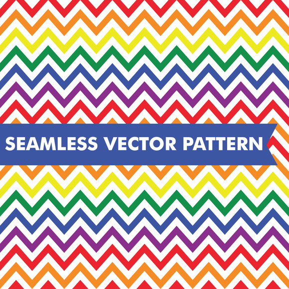 Rainbow Chevron Seamless Vector