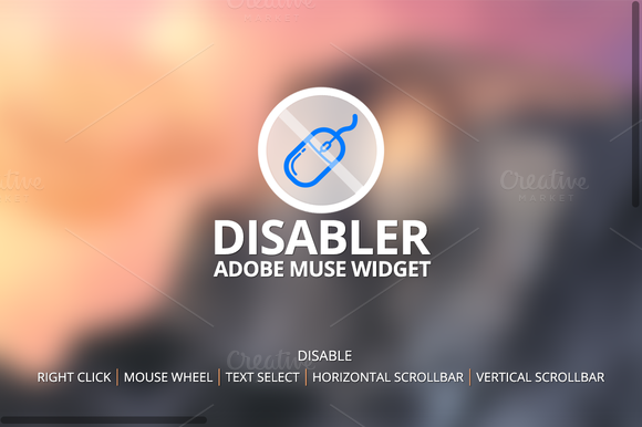 Disabler Widget Adobe Muse