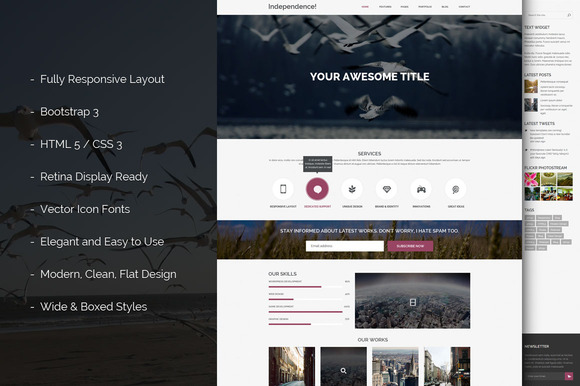 Independence Bootstrap 3 Template