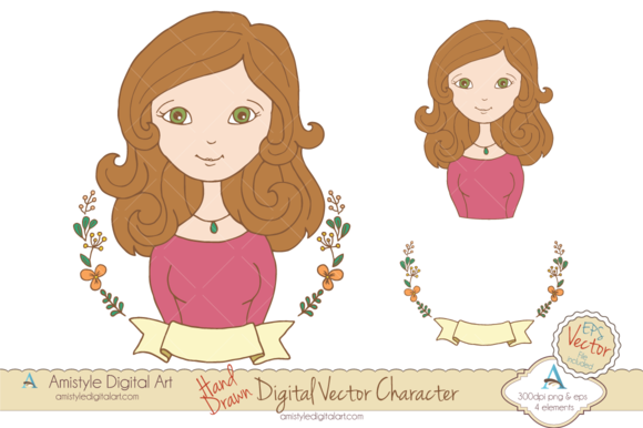 Woman Avatar Clipart Vector 19445 2