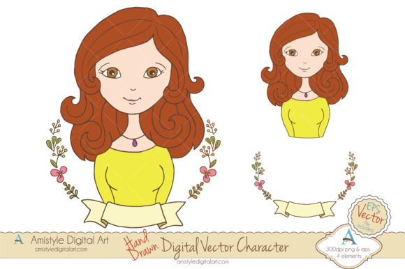 Woman Avatar Clipart Vector 19445 4