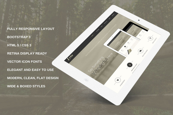 Leto Bootstrap 3 Responsive Template
