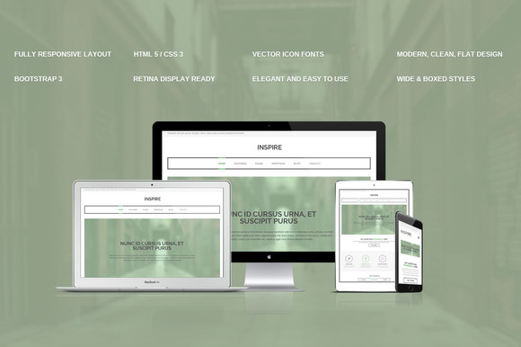 Inspire Bootstrap 3 Responsive Theme