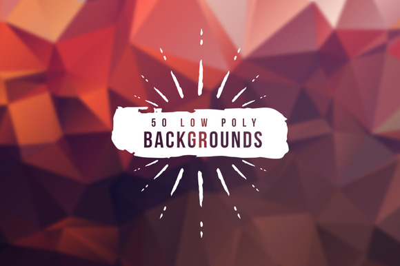 50 Low Poly Backgrounds