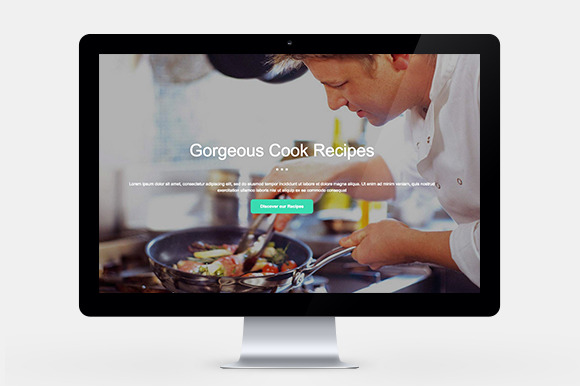 Food One Page Website Template