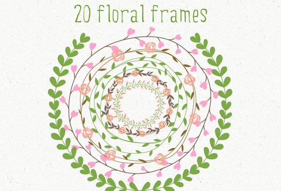 20 Floral Frames