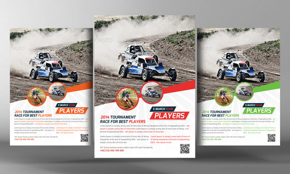 Racing School Flyer Template