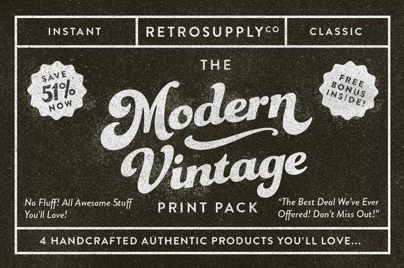 The Modern Vintage Print Pack