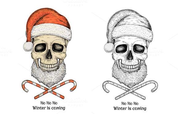 Christmas Skull Set