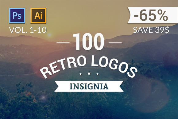 100 Retro Logos All Volumes