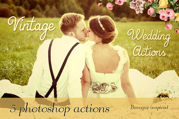 5 Vintage Wedding Photoshop Actions