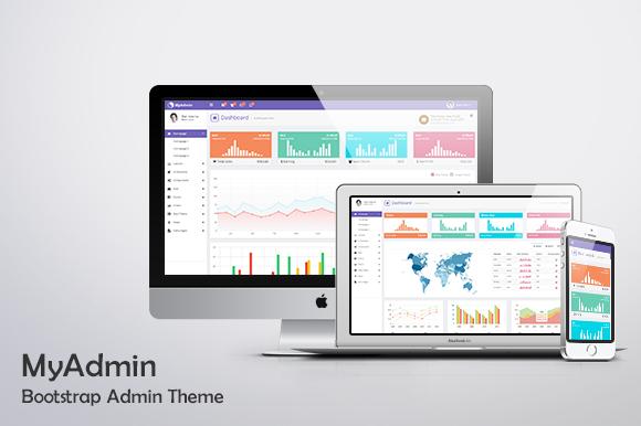 Myadmin Bootstrap Admin Template