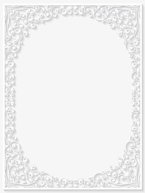 Paper Floral Frames